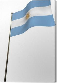 Cuadro en Lienzo Bandera de argentina