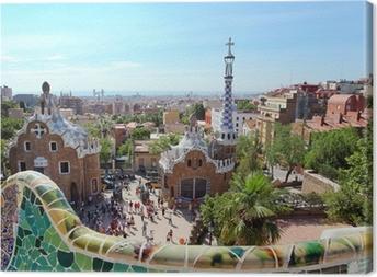 Cuadro en Lienzo BARCELONA, ESPAÑA: El famoso Parque Güell