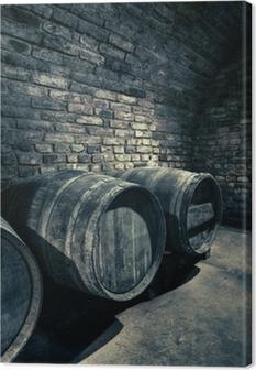 Cuadro en Lienzo Barriles viejos, imagen HDR de una bóveda en