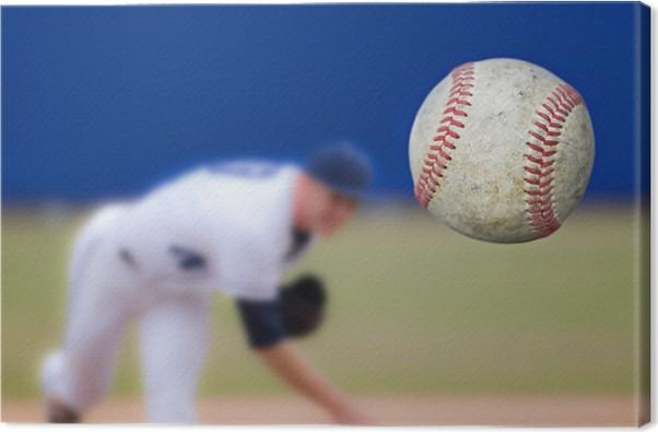 Cuadro en Lienzo Baseball Pitcher pelota Lanzar, atención selectiva ...