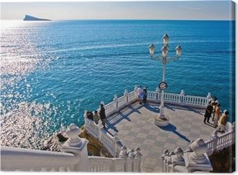 Cuadro en Lienzo Benidorm - Mirador del Mediterraneo