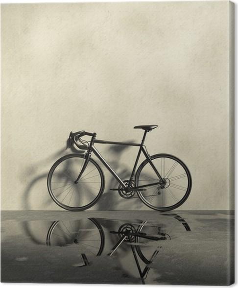 Cuadro en Lienzo Bicicleta de carreras por carretera en un lugar ...