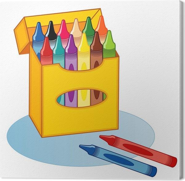 Cuadro en Lienzo Big Box de creyones para escuela, hogar, libros de ...