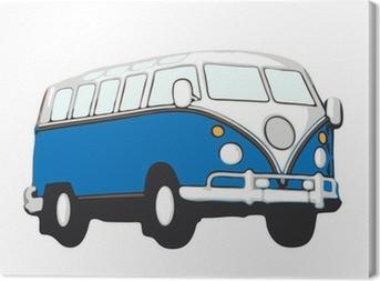 Cuadro en Lienzo Blauer vw bus hippie