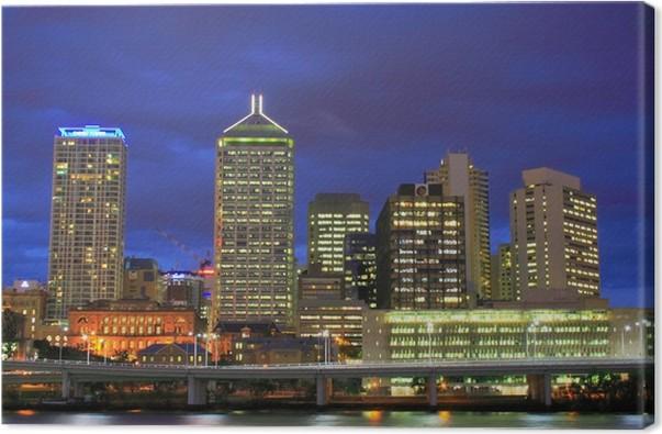 Cuadro en Lienzo Brisbane ciudad por la noche • Pixers® - Vivimos ...