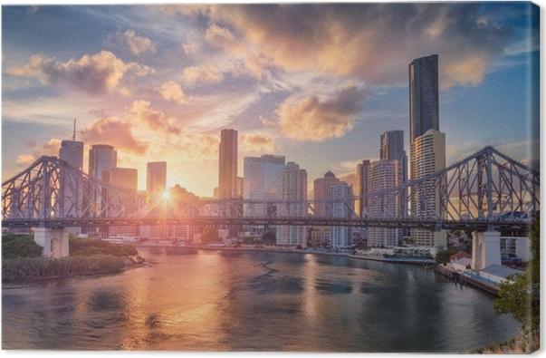 Cuadro en Lienzo Brisbane. imagen de paisaje urbano de horizonte de ...