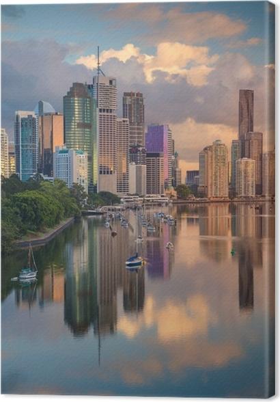 Cuadro en Lienzo Brisbane. imagen del paisaje urbano del horizonte ...