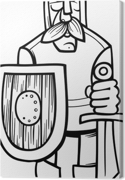 Cuadro en Lienzo Caballero de la página para colorear dibujos ...