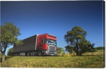 Cuadro en Lienzo Camión en la carretera