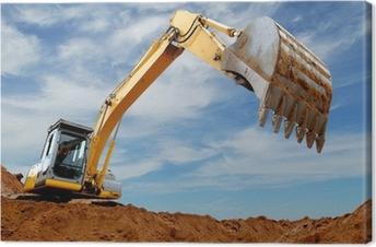 Cuadro en Lienzo Cargador de excavador en sandpit
