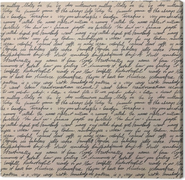 Cuadro en Lienzo Carta escrita a mano • Pixers® - Vivimos para cambiar