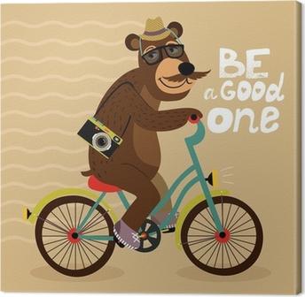 Cuadro en Lienzo Cartel del inconformista con el oso friki