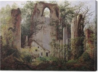 Cuadro en Lienzo Caspar David Friedrich - Ruinas del monasterio de Eldena