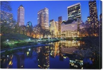 Cuadro en Lienzo Central Park en la noche en la ciudad de Nueva York