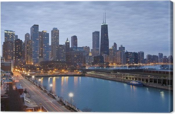 Cuadro en Lienzo Chicago skyline • Pixers® - Vivimos para cambiar