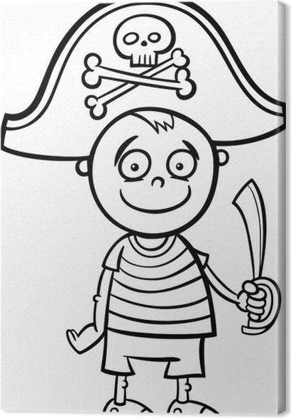 Cuadro en Lienzo Chico de pirata para colorear traje • Pixers ...