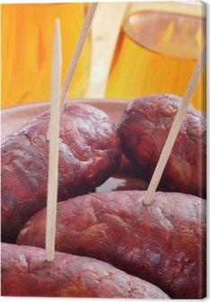 Cuadro en Lienzo Chorizos españoles tapas