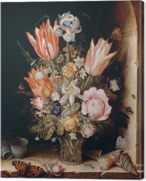 Cuadro en Lienzo Christoffel van den Berghe - Still Life with Flowers in a Vase - Reproducciones