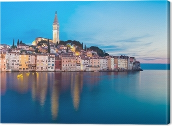 Cuadro en Lienzo Ciudad costera de Rovinj, Istria, Croacia.