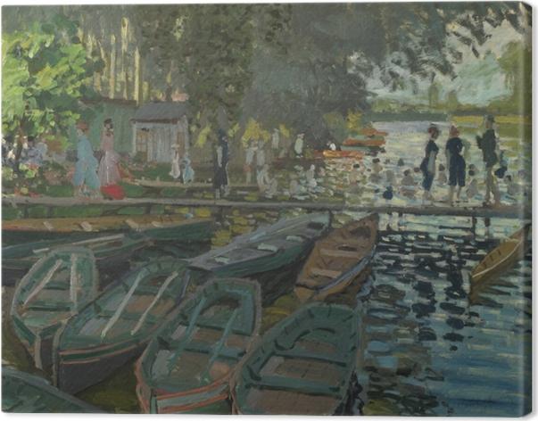 Cuadro en Lienzo Claude Monet - Bañistas en La Grenouillere - Reproducciones