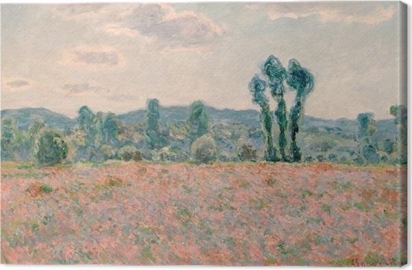 Cuadro en Lienzo Claude Monet - Campo con las amapolas - Reproducciones