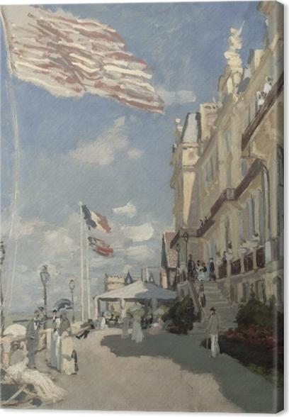 Cuadro en Lienzo Claude Monet - El Hotel des Roches Noires en Trouville - Reproducciones