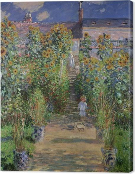 Cuadro en Lienzo Claude Monet - Jardín de Monet en Vetheuil - Reproducciones