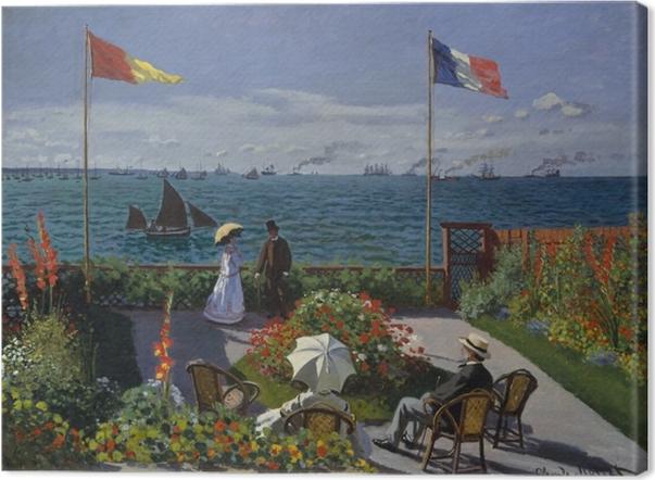 Cuadro en Lienzo Claude Monet - La terraza en Sainte-Adresse - Reproducciones