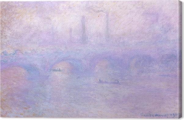 Cuadro en Lienzo Claude Monet - Puente de Waterloo, efecto de la niebla - Reproducciones