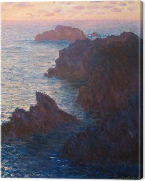 Cuadro en Lienzo Claude Monet - Puerto Domois en la belleza Ile - Reproducciones