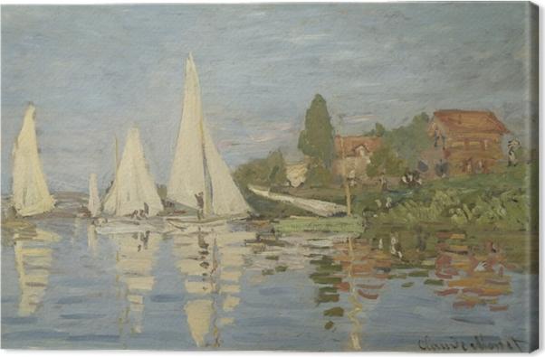 Cuadro en Lienzo Claude Monet - Regatta en Argenteuil - Reproducciones