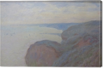 Cuadro en Lienzo Claude Monet - Steef Acantilados cerca de Dieppe