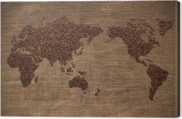 Cuadro en lienzo coffee world map pixers vivimos para cambiar cuadro en lienzo coffee world map gumiabroncs Gallery