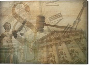 Cuadro en Lienzo Collage de justicia