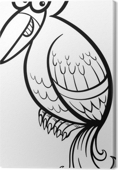 Cuadro en Lienzo Colorear dibujos de aves exóticas • Pixers ...