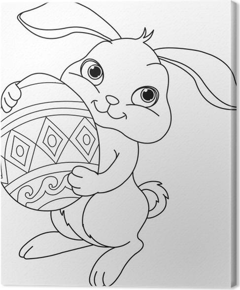 Cuadro en Lienzo Conejo de Pascua para colorear • Pixers® - Vivimos ...