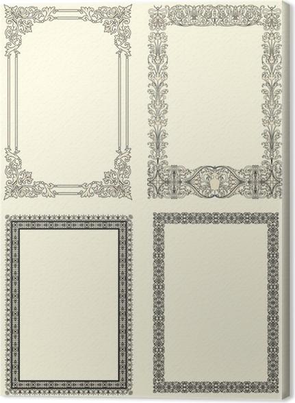 Cuadro en Lienzo Conjunto de cuatro clásicos de fotos marco de ...