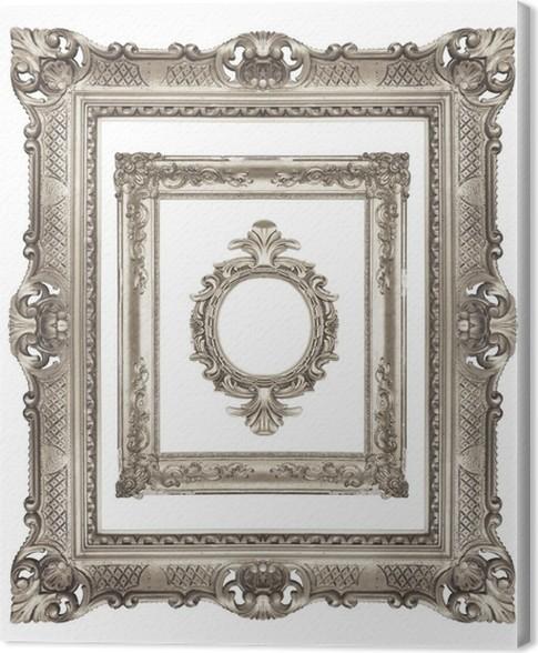 Cuadro en Lienzo Conjunto de marcos de plata ornamentales • Pixers ...