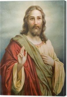 Cuadro en Lienzo Copia de la típica imagen católica de Jesucristo
