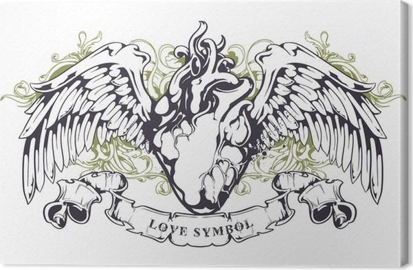 Cuadro en Lienzo Corazón anatómico con alas • Pixers® - Vivimos para ...
