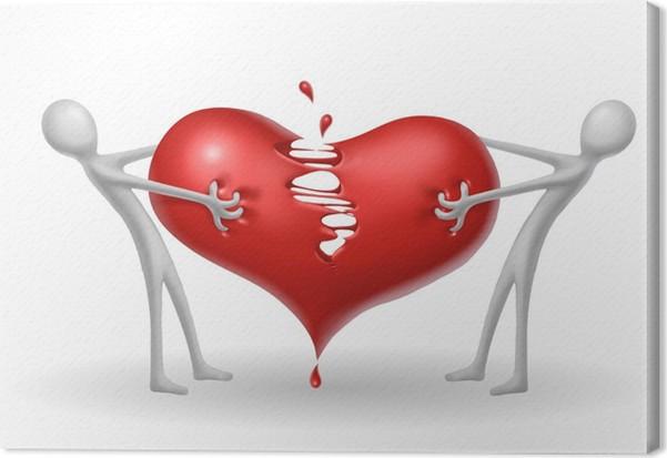 Cuadro en Lienzo Corazón roto • Pixers® - Vivimos para cambiar