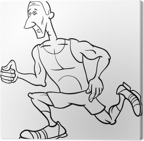 Cuadro en Lienzo Corredor deportista página para colorear de dibujos ...