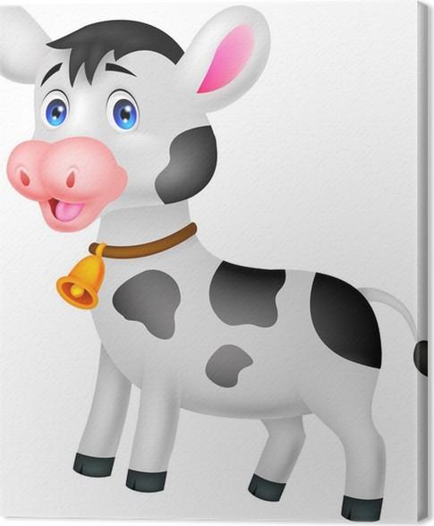 Cuadro en Lienzo De dibujos animados lindo de la vaca • Pixers ...