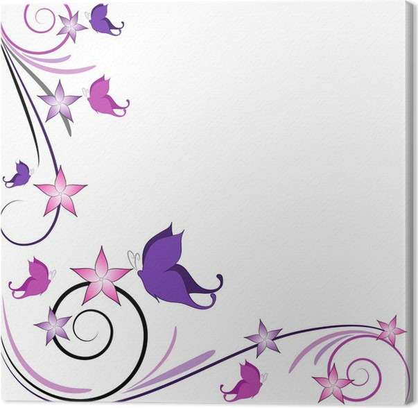 Cuadro en Lienzo Decoración de mariposas de fondo • Pixers ...