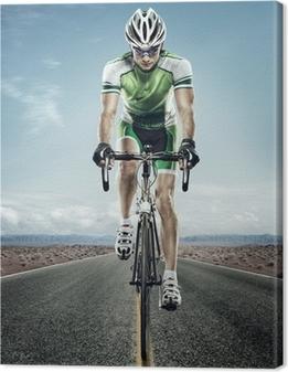 Cuadro en Lienzo Deporte. Ciclista del camino.