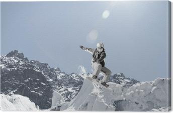 Cuadro en Lienzo Deporte Snowboarding