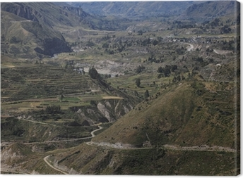 Cuadro en Lienzo Der Cañón del Colca en Perú