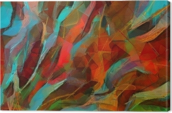 Cuadro en Lienzo Dibujo a mano cartel de la pared de impresión. arte abstracto. pintura al óleo. Estilo impresionismo. Bueno para obras de arte impresas en lienzo o papel. Arte moderno de moda. pictórica contemporánea. Pinceladas reales de pincel.