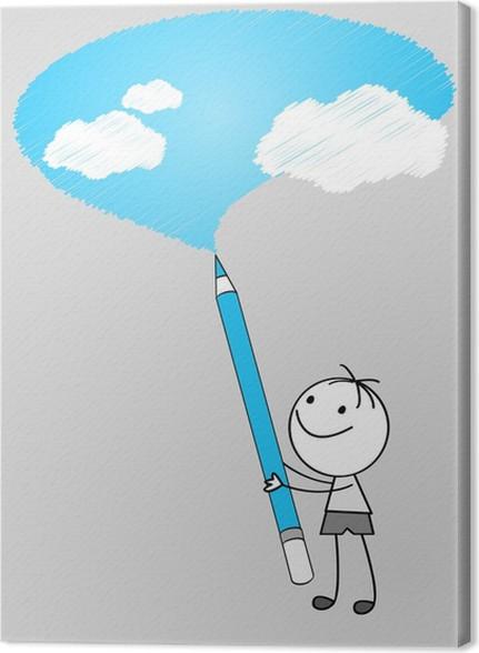 Cuadro En Lienzo Dibujo Cielo Pixers Vivimos Para Cambiar
