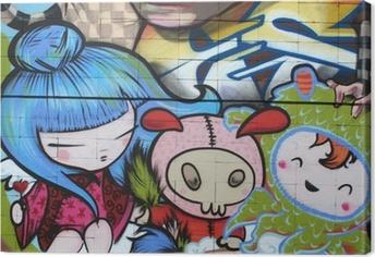 Cuadro en Lienzo Dibujo manga. el graffiti arte urbano
